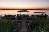 Botswana Rundreise & Safari  Der Bootssteg der Lodge am Chobe River