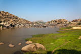 Indien Reise (Südindien)  Landschaft in Hampi